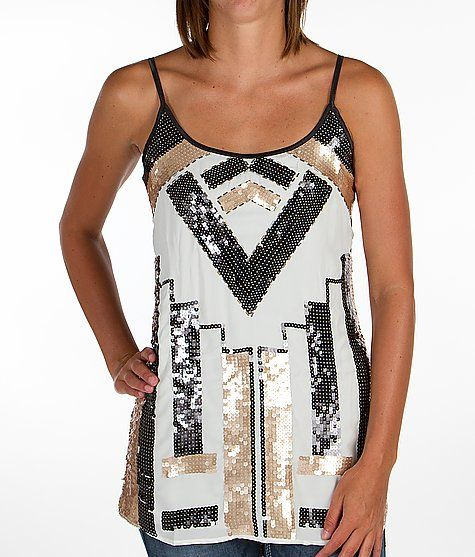 'BKE Boutique Sequin Tank Top' #buckle #fashion  www.buckle.com