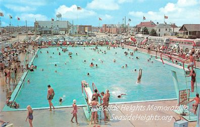 Color Postcard of the Casino Pool Seaside Heights NJ 1960s Send this Postcard to a friend!