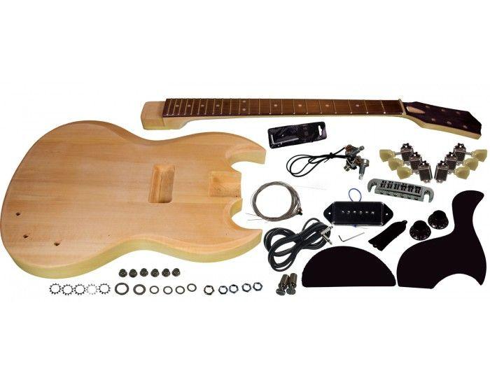 Solo Pro SG Style DIY Guitar Kit  Basswood Body, Unfinished