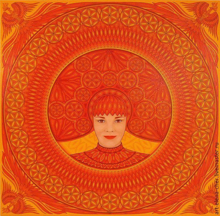 Купить картина Янтарь, акрил, 100 х 100 см - картина, картина на холсте