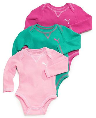Puma Baby Girls' 3-Pack Bodysuits - Kids Baby Girl (0-24 months) - Macy's