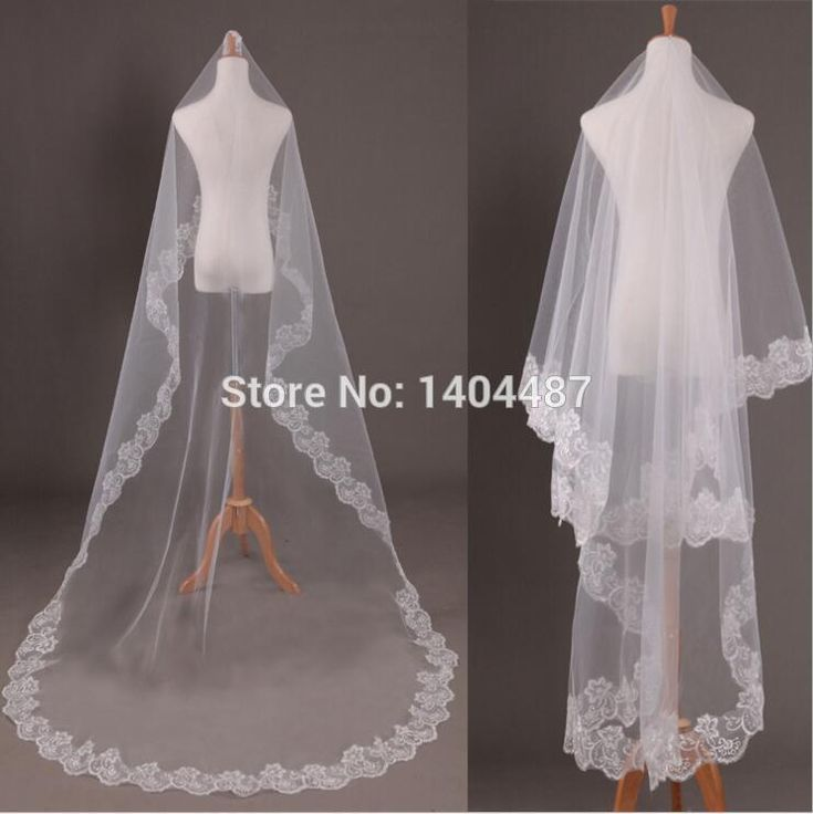 2016 Top Quality Wedding Veils Long Chapel Length Bridal Veils Velo Novia 3 m Lace Bride Hair Accessories Velo Da Sposa Lungo-in Bridal Veils from Weddings & Events on Aliexpress.com | Alibaba Group