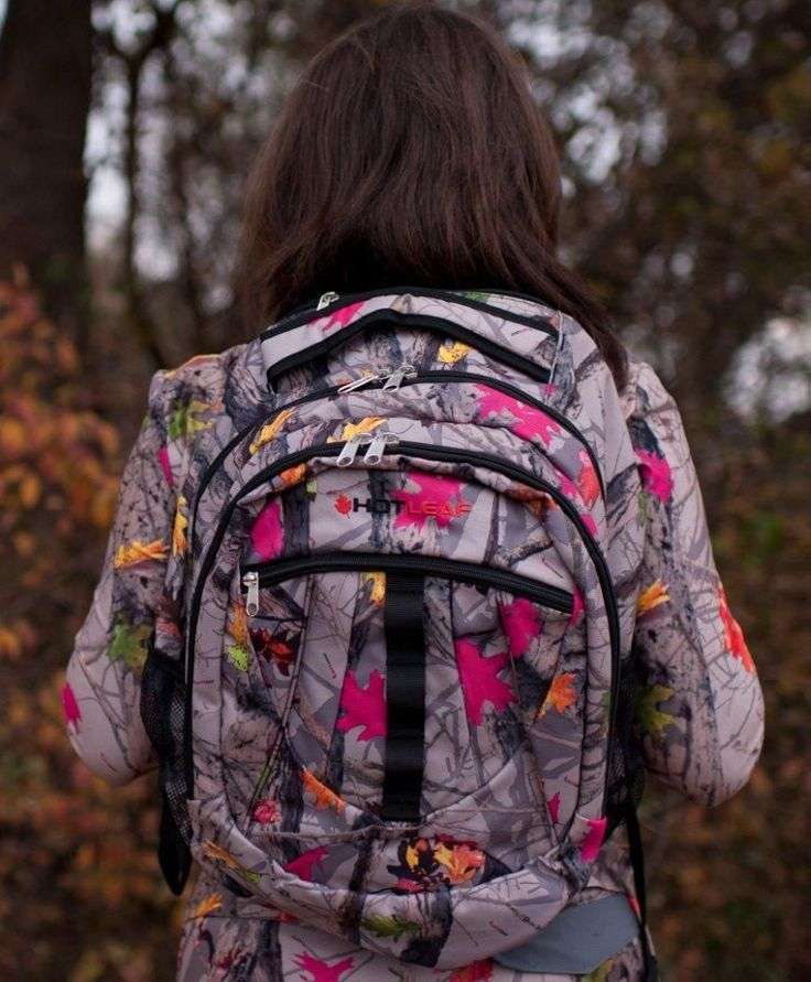Awesome hot leaf hot pink camo backpack!