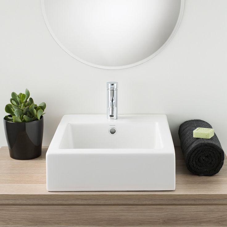 Basin Vessel Liano Above Counter Caroma #square #minimalistic #tapware