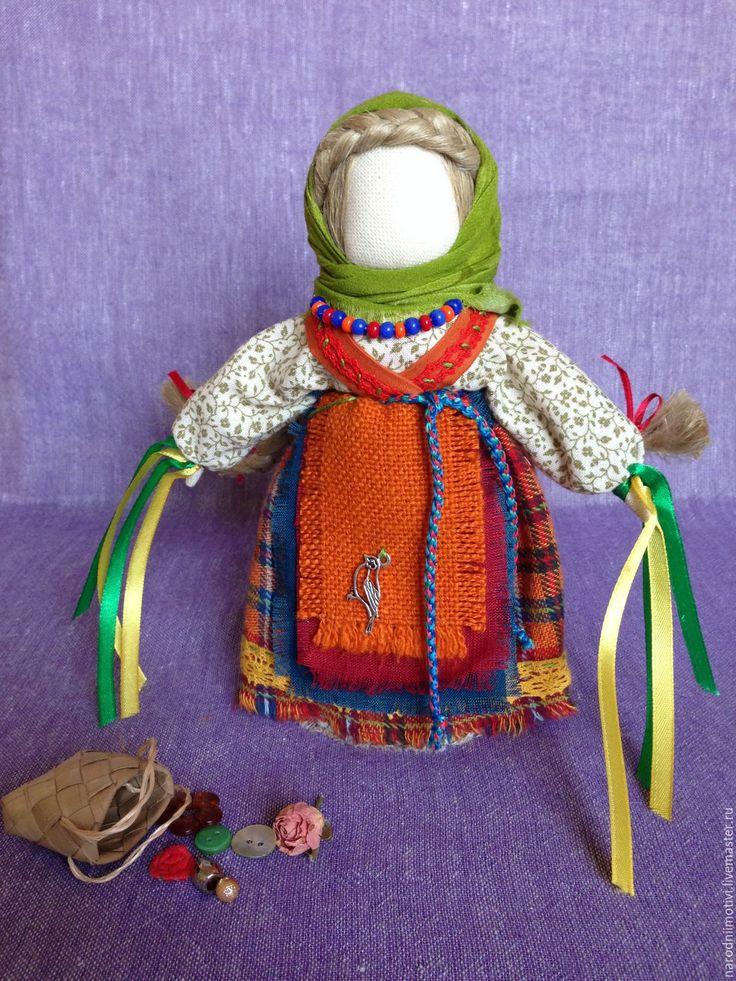 Купить Народная кукла Желанница (оранжевый, зеленый, синий, красный) - народная кукла, оберег в подарок