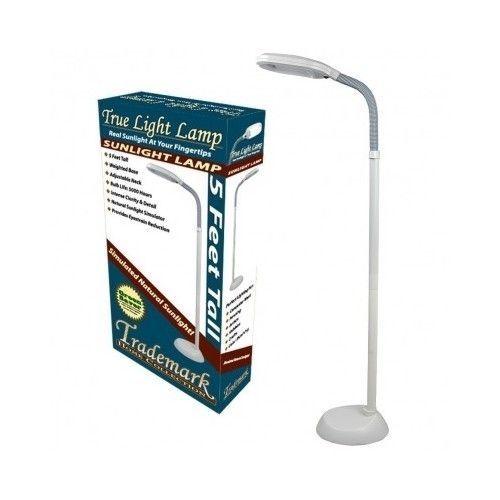 Modern Floor Lamp White Contemporary Sunlight Home Office Reading Desk 5 Feet