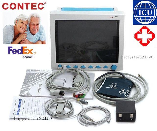 Contecmed Us Seller Icu Ce Patient Monitor 6 Parameter Vital Sign Ecg Nibp Resp Temp Us 499 00 599 00 Healthy Heal Vital Signs Monitor Vital Signs Icu