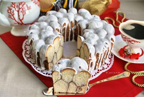 Мраморный пирог с корицей и глазурью пошаговый рецепт с фотографиями