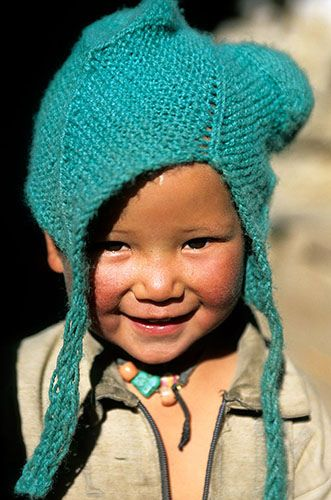 Himachal Pradesh, North India, Photos People, Nako Himachal, Beautiful Children, Pradesh India, High Village, Child Face,  Poke Bonnets