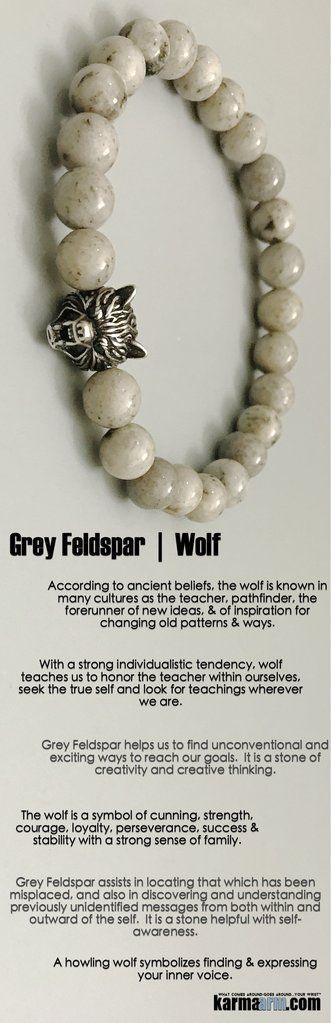 Idée et inspiration Bijoux :   Image   Description   The #wolf is a symbol of cunning, #strength, #courage, #loyalty, perseverance, #success & stability with a strong sense of #family.     #Beaded #Beads #Bijoux #Bracelet #Bracelets #Buddhist #Chakra #Charm #Crystals #Energy #gifts...