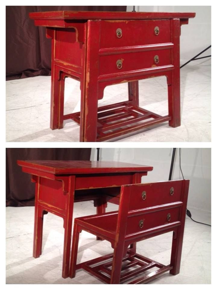 """""""Clever dresser repurpose - desk & seat! What a cool idea for a child's room!"""""""