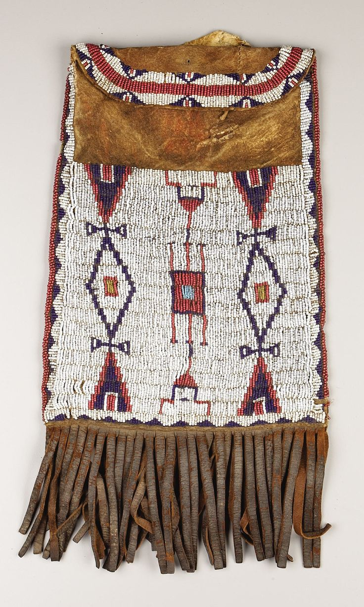 A CHEYENNE BEADED LEATHER DISPATCH CASE. . c. 1880. ... American | Lot #77199 | Heritage Auctions