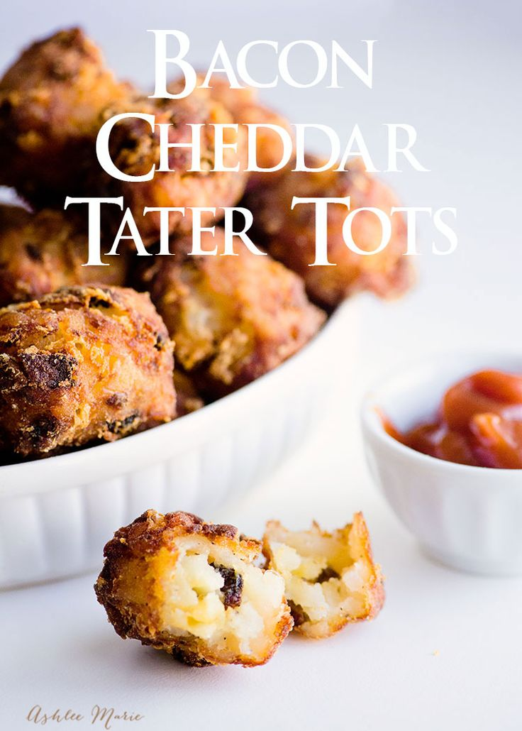 homemade tater tots are easy to make and fun fill with flavors like bacon and cheddar |  Ashlee Marie