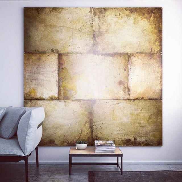 Rustic metal boards from Kosmonaut #nordicdesign #nordicliving #nordichome #minimalism #industrialstyle #industrialchic #nordic #indretningsinspiration #indretning #decor  #boligindretning #boliginspiration #interiørdesign #interiør #furnituredecor #furnituredesigner #furnitureproduction #designservices #designstudio #walldecor #walldeco #artreproductions #rawinterior #rawbeauty