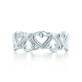Paloma Picasso® Loving Heart band ring in sterling silver. NEED this.!!