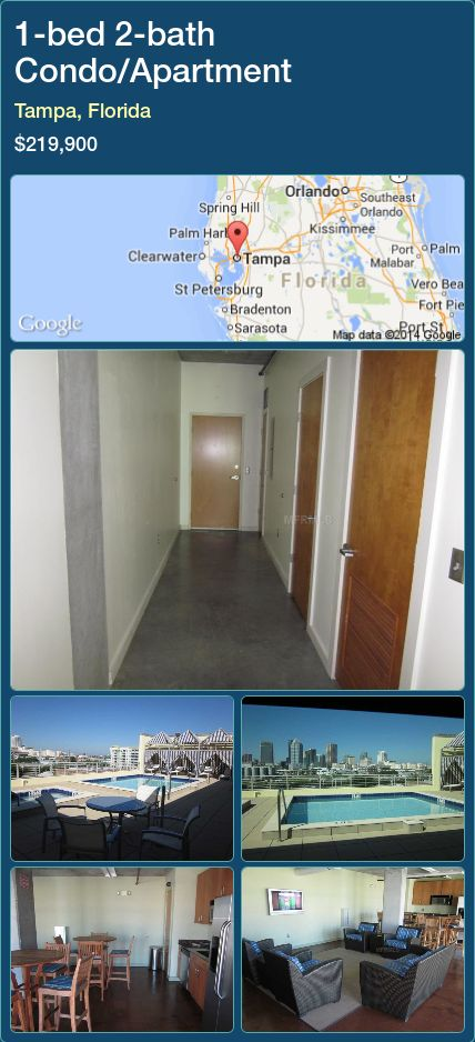 Condo Apartment For Sale In Tampa Florida With 1 Bedroom 2 Bathroom