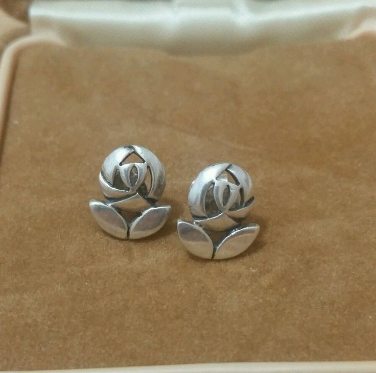 VINTAGE 925 SILVER RENNIE MACKINTOSH STUD EARRINGS SIGNED BY KIT HEATH in Jewellery & Watches, Fine Jewellery, Fine Earrings | eBay