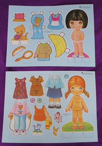 Vintage paper dolls / Muñecas recortables Edit. Roma | Flickr - Photo Sharing!