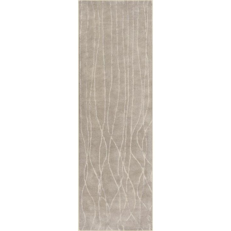 Saillon Taupe (Brown) 2 ft. 6 in. x 8 ft. Indoor Rug Runner