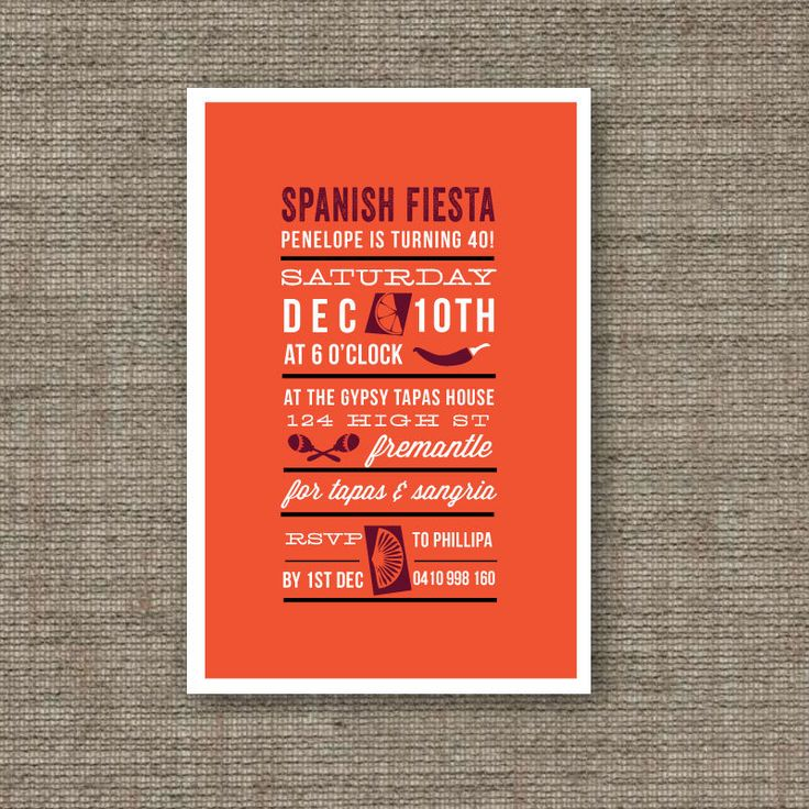 Best Tapas Party Invitation Images On Pinterest Cheese - Birthday party invitation in spanish