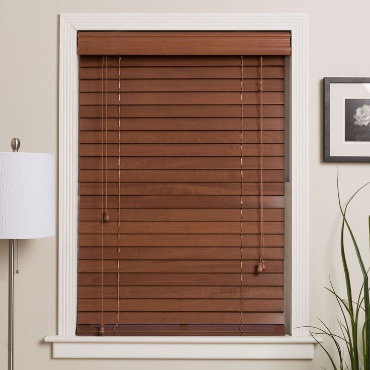 Customized 40 Inch Real Wood Window Blinds Mahogany 40x76 Brown
