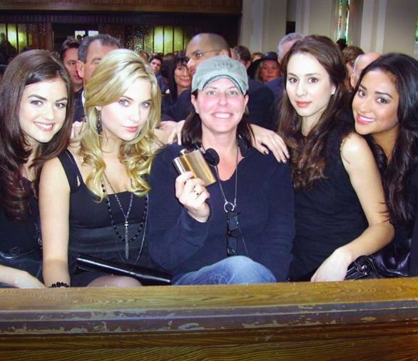 Lucy Hale, Ashley Benson, Marlene King, Troian Bellisario and Shay Mitchell