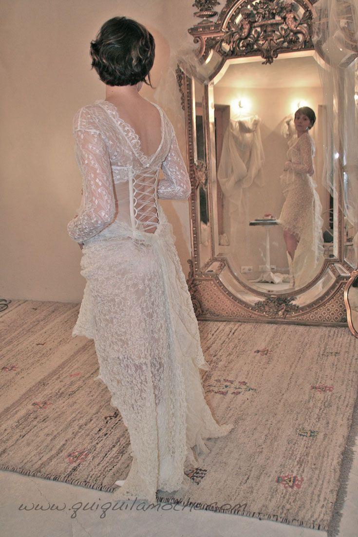 Robe de mariée enceinte originale.