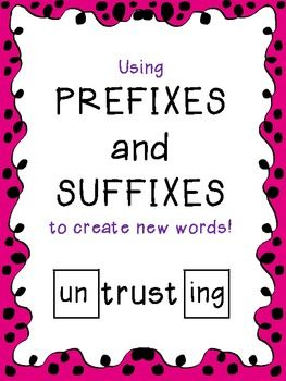 Building Words with Prefixes and Suffixes - FREE!