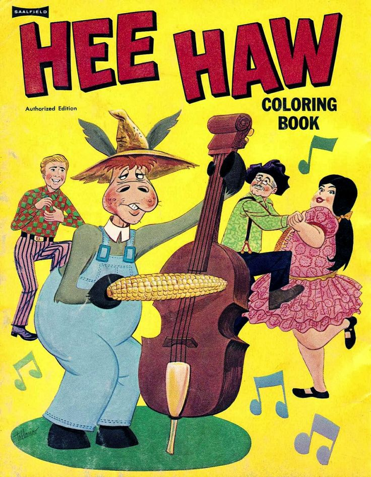 1970 hee haw coloring book - Vintage Coloring Books