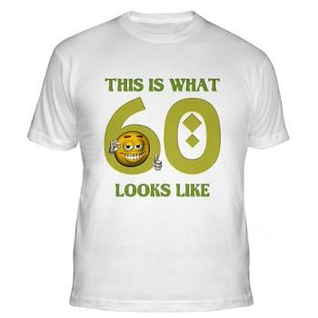 Perfect 60 Birthday Emoticon Fitted T-Shirt #circusvalley