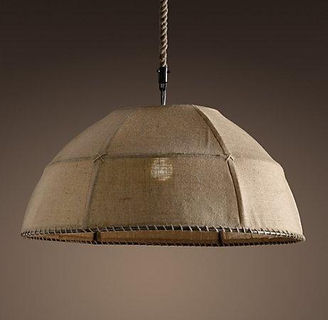Hessian Lampshade