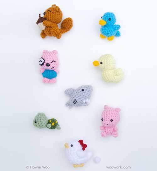 Super cute tiny crocheted animals.