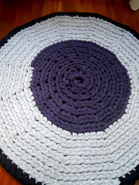 Alfombras trapillo 80 cm. / KeChulo.com - Artesanio: Rag Rugs, Trapillo 80, Alfombra Crochetganchillo, Xxl Crochet, Alfombras Trapillo