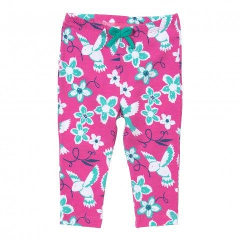 organic cotton leggings floral front