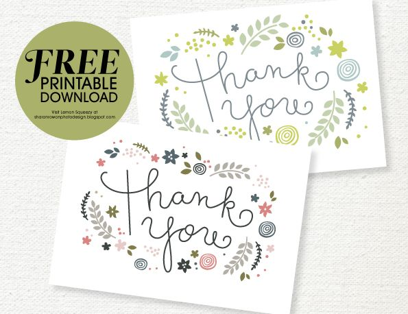 47 best Free Printable Thank You Cards images on Pinterest Paper - free thank you card template
