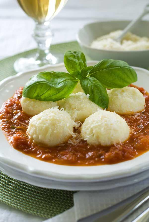 Gluten Free Ricotta Gnocchi with Quick Tomato Sauce Recipe