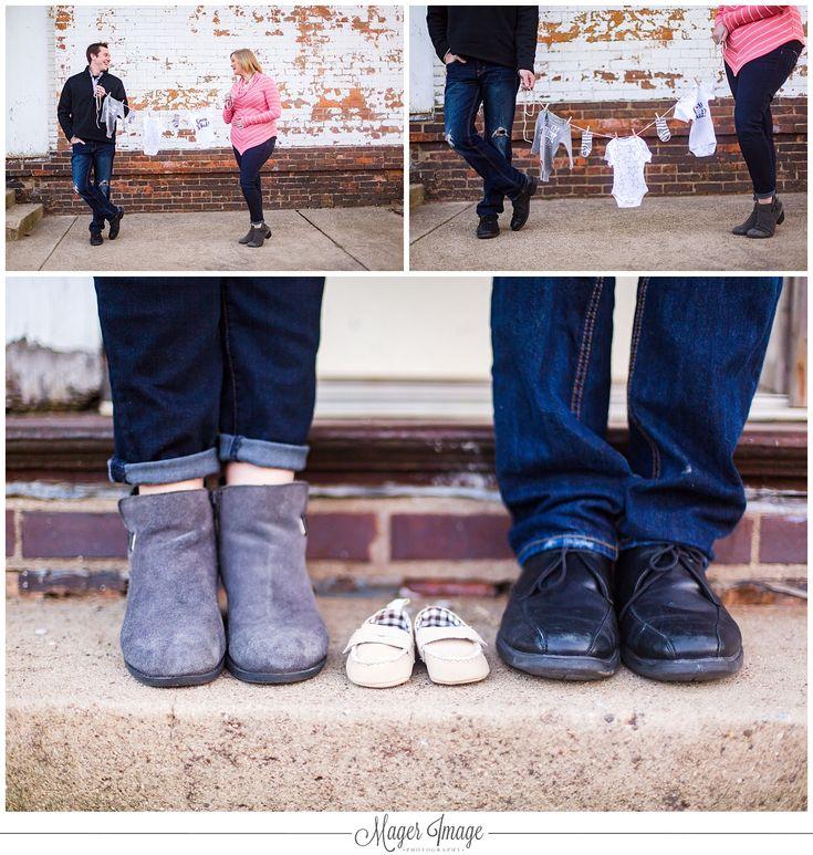 cute pinterest baby announcement shoes clothesline