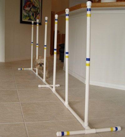 Dog Agility Equipment Indoor - Outdoor Weave Poles - Set of 6 weaves - Furniture Grade PVC!