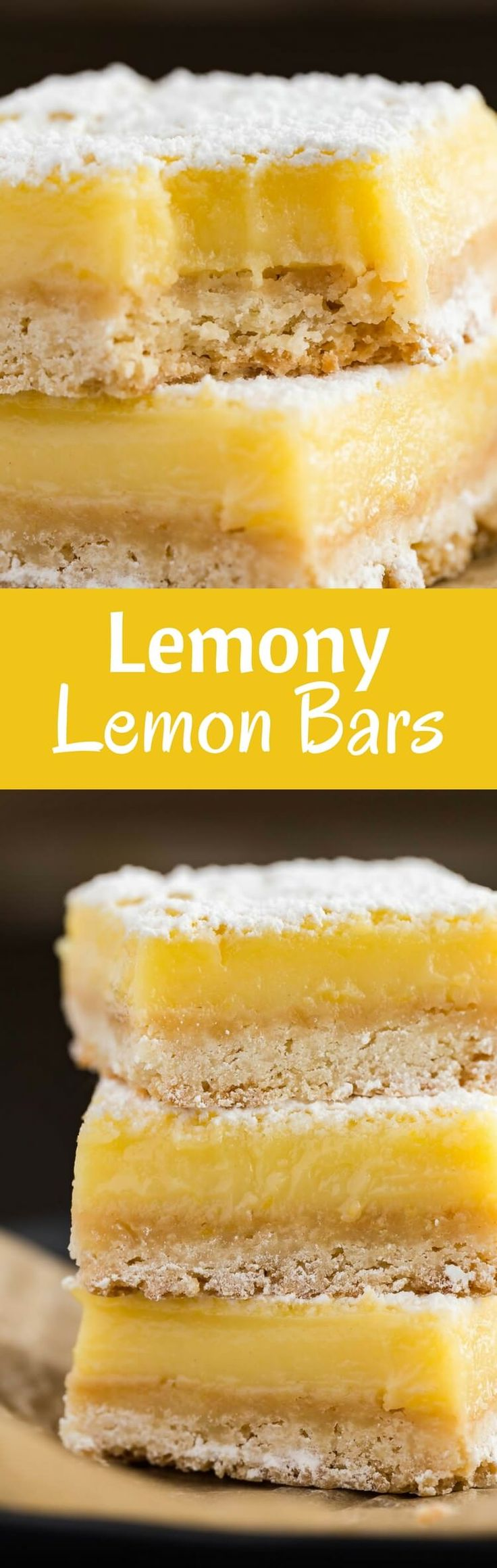 Lemon Bars Recipe | Dessert | Easy | Made from Scratch | Homemade via @introvertbaker