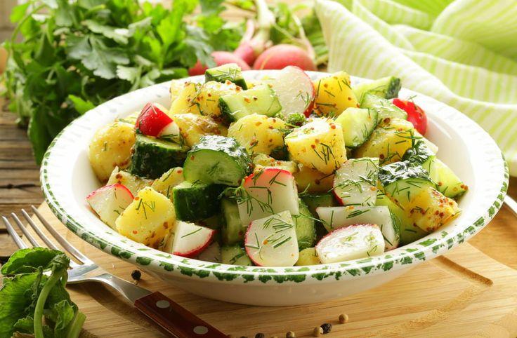 healthy potato salad recipe, potato salad recipe