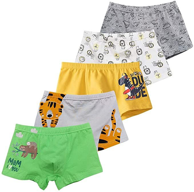 Multipack CC/&La Dame Underwear Boys Boxer Briefs Cotton Comfort Breathable Toddler Shorts Boxer for 3-10Y