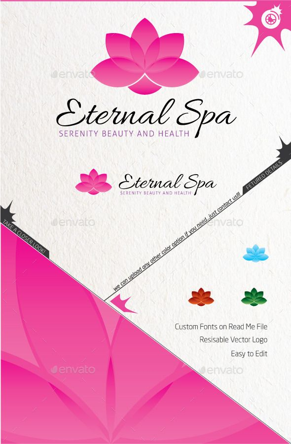 Eternity Spa (AI Illustrator, Resizable, CS, active, activity, body, center, club, core, dance, energy, exercise, fitness, gym, harmony, health, life, lifestyle, modern, movement, muscle, nature, nutrition, personal training, silhouette, spa, studio, train, well being, yoga)