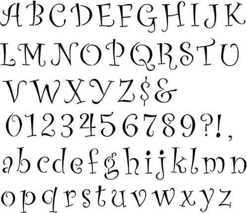 Curly Lettering | Designer Stencils
