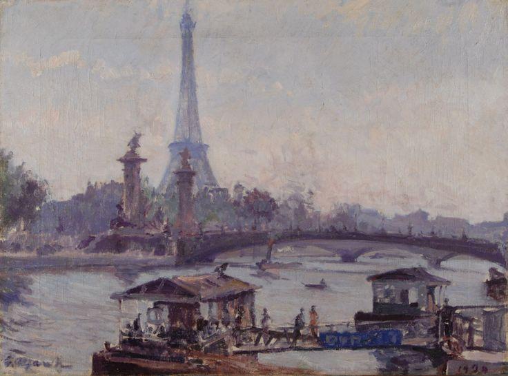 Giovanni March Parigi (Paris) Olio su tela cm 45,5x60