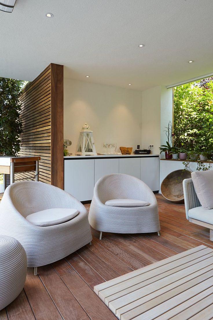Moderne poolhouse in hout en crépi   Bogarden