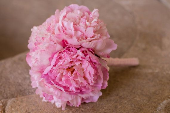 peony bridal bouquet by PumpkinandPye on Etsy, £40.00