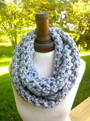 Cool Evenings  Crochet Infinity Circle Scarf by CrochetingMyDreams,