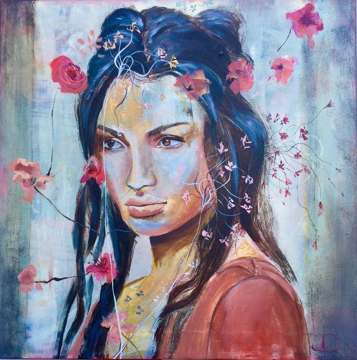 Patina 1 80X80 cm. Acrylic on canvas. made by Naja Duarte.