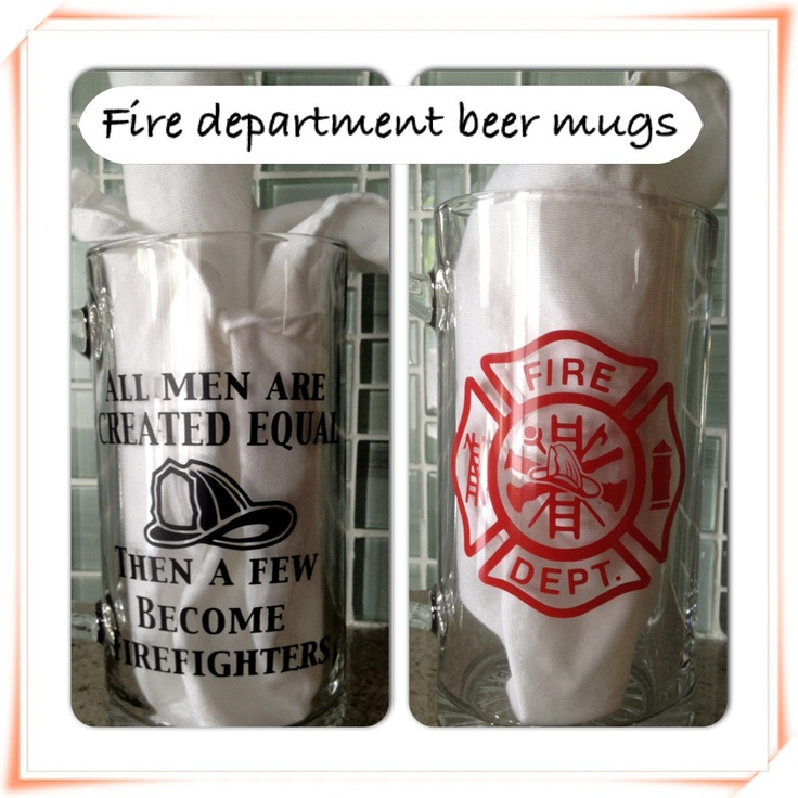 Personalized Beer Mugs Fire Department Police Doctor