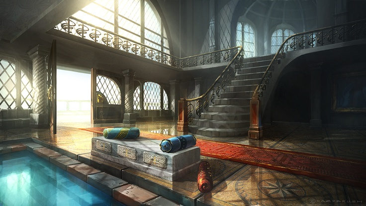 Master bedroom and spa concept